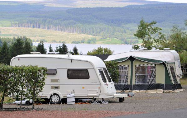Caravan over looking Kielder Water