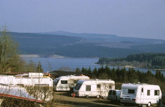 Caravan site at Kielder Waterside Park