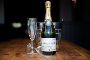 Champagne bottle & glasses