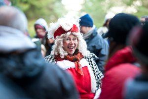 Mrs Christmas having fun at Kielder Winter Wonderland