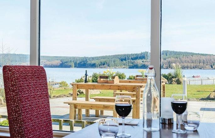 Restaurant dining over looking Kielder Water
