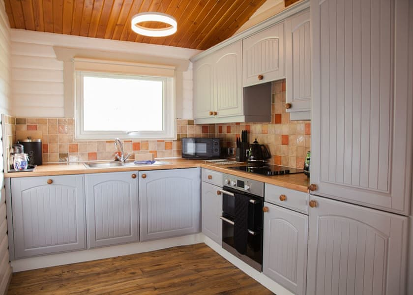 Kielder Waterside lodge kitchen